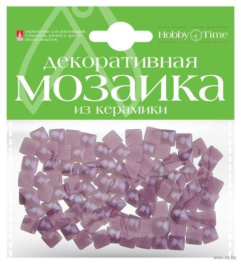Мозаика декоративная из керамики №21 (8х8 мм; 100 шт.; лиловый) — фото, картинка