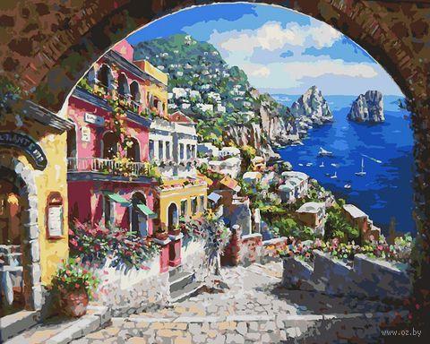 "Картина по номерам ""Лестница к морю"" (400х500 мм)"