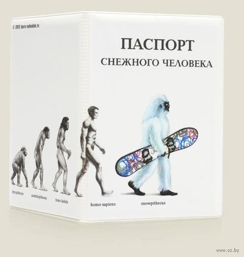 """Обложка для загранпаспорта """"Снежный человек"""" (пластик)"""