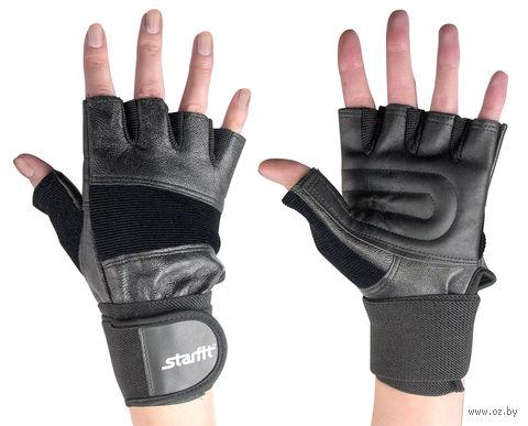 Перчатки атлетические SU-125 (L; чёрные) — фото, картинка