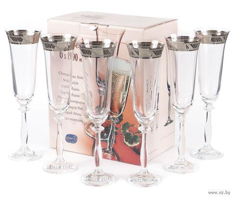 """Бокал для шампанского стеклянный """"Angela"""" (6 шт.; 190 мл; арт. 40600/378805/190) — фото, картинка"""