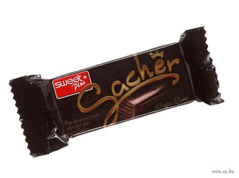"""Вафельный батончик в шоколадной глазури """"Sacher"""" (45 г) — фото, картинка"""