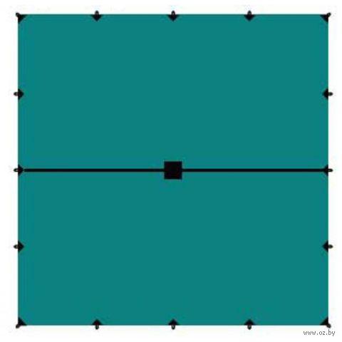 Тент (6x6 м; зелёный) — фото, картинка