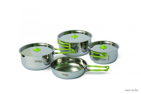 """Набор стальной посуды """"Trio steel L"""" — фото, картинка"""
