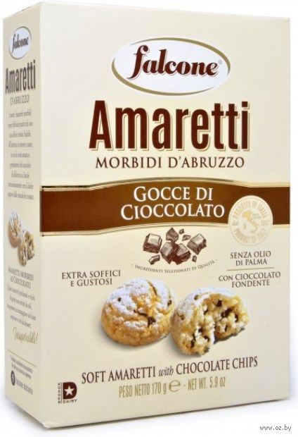 "Печенье ""Amaretti. С кусочками шоколада"" (170 г) — фото, картинка"