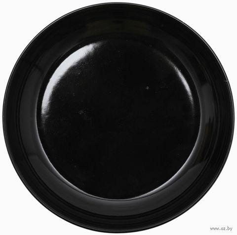 """Тарелка керамическая """"Nordic"""" (220 мм; черная) — фото, картинка"""