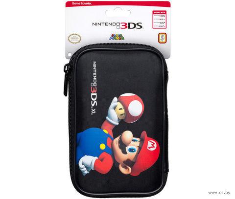 """Чехол черный для Nintendo 3DS """"Марио Гриб"""""""