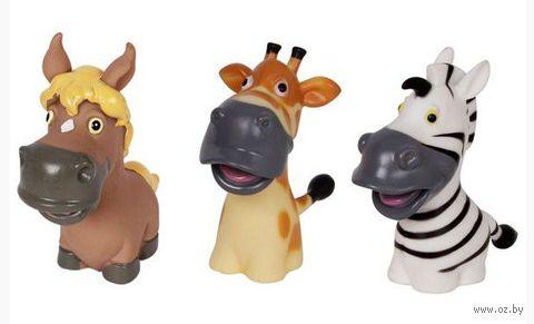 """Набор игрушек для купания """"Лошадка, жираф и зебра"""" (3 шт)"""