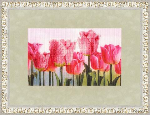 """Вышивка крестом """"Розовые тюльпаны"""""""