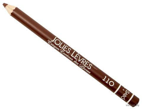 """Карандаш для губ """"Jolies Levres"""" тон: 110, винный — фото, картинка"""
