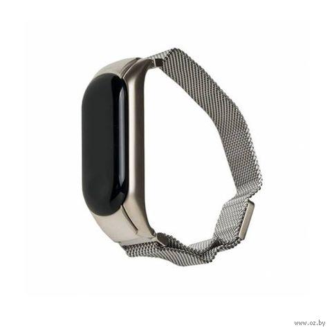 Ремешок для Xiaomi Mi Band 3 Magnetic (серебристый) — фото, картинка