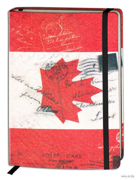 """Записная книжка """"Флаги мира. Канада"""" (А6; 80 листов)"""