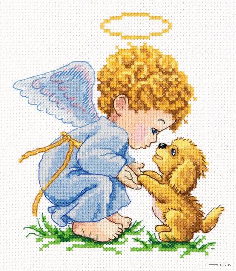 "Вышивка крестом ""Мой добрый Ангел!"" (130x140 мм) — фото, картинка"