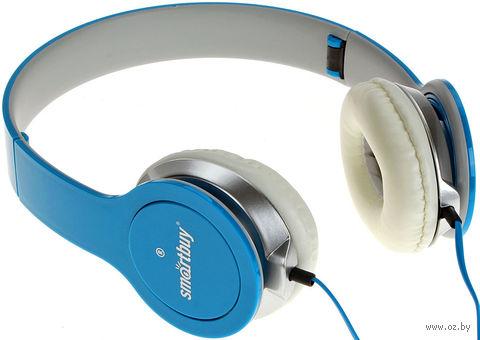 Полноразмерные наушники SmartBuy ONE, складная конструкция, плоский кабель, синий (SBE-9420) — фото, картинка