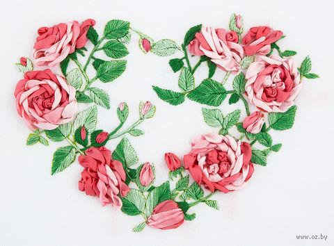 """Набор для вышивания """"Сердце из роз"""" (145х105 мм) — фото, картинка"""