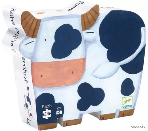 "Пазл ""Коровы на ферме"" (24 элемента) — фото, картинка"