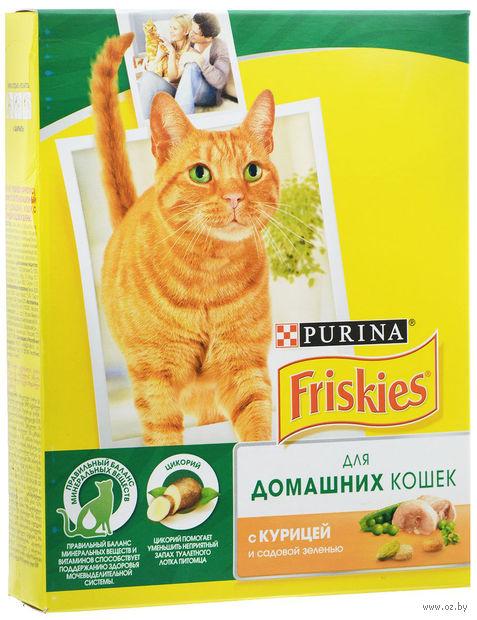 Корм сухой для кошек (300 г; курица и садовая зелень) — фото, картинка