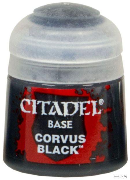 "Краска акриловая ""Citadel Base"" (corvus black; 12 мл) — фото, картинка"