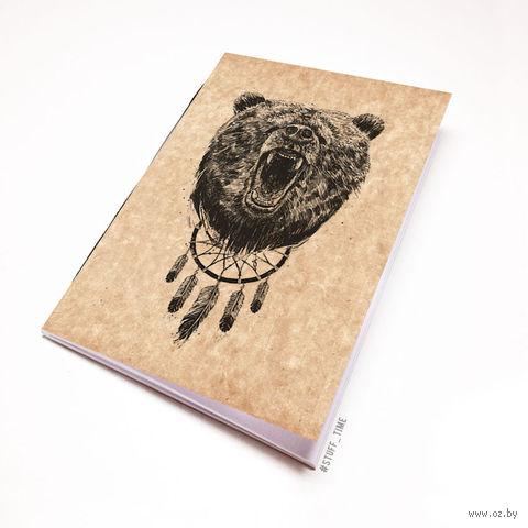 """Блокнот крафт """"Медведь"""" А7 (арт. 944)"""