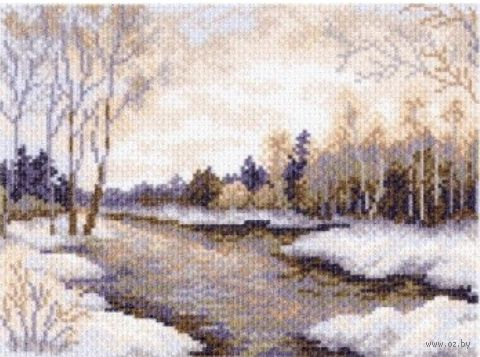 "Канва с нанесенным рисунком ""Ранняя зима"""