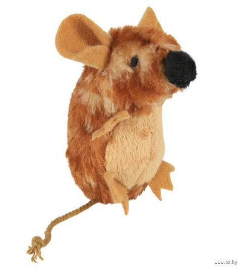 """Игрушка для кошек """"Пищащая мышь"""" с кошачьей мятой (8 см)"""