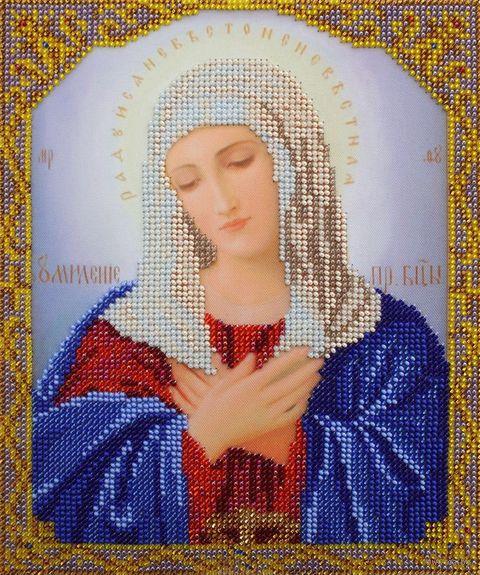 """Вышивка бисером """"Пресвятая Богородица Умиление"""" (190х230 мм) — фото, картинка"""