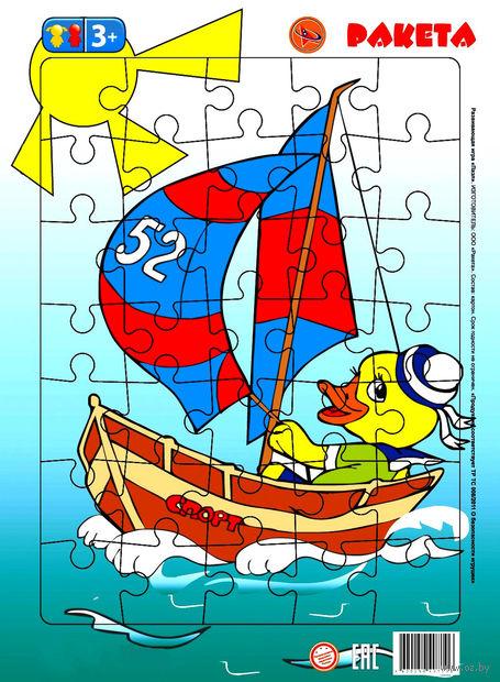 """Пазл-рамка """"Утенок-моряк"""" (35 элементов) — фото, картинка"""