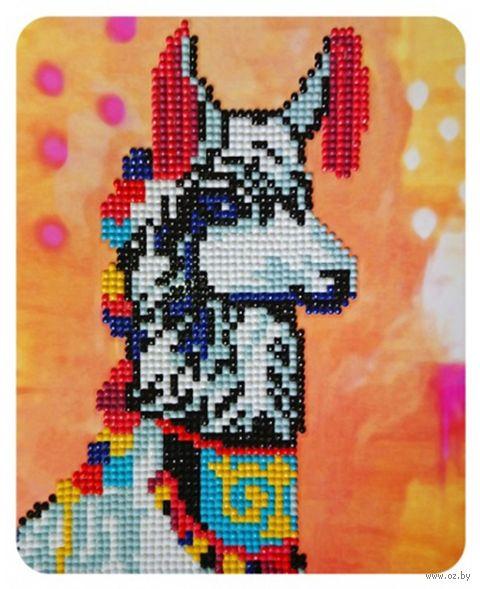 """Алмазная вышивка-мозаика """"Нарядная лама"""" (170х210 мм) — фото, картинка"""