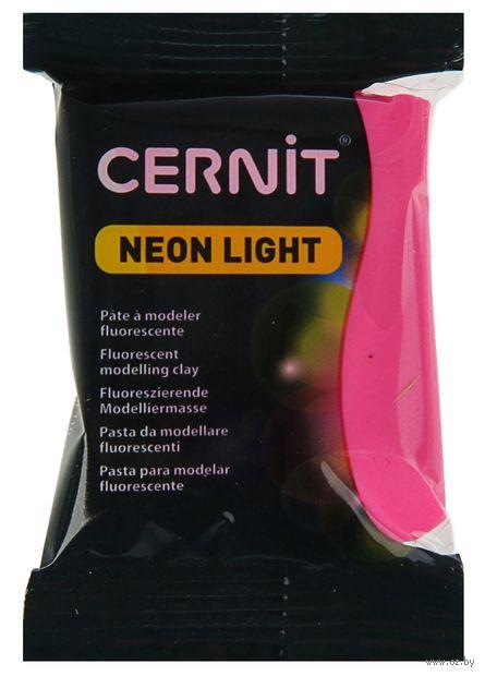 """Глина полимерная """"CERNIT Neon Light"""" (розовый; 56 г) — фото, картинка"""