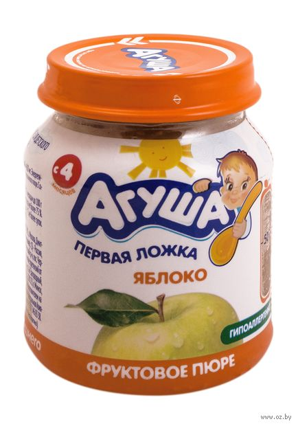 """Детское пюре Агуша """"Яблоко"""" (115 г) — фото, картинка"""