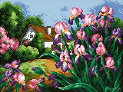 """Алмазная вышивка-мозаика """"Весенние цветы"""" (350х450 мм) — фото, картинка"""