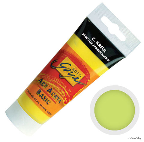 "Краска акриловая матовая ""Solo Goya Basic"" 40 (100 мл; светло-зеленый)"