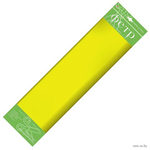 Фетр (50х70 cм; желтый) — фото, картинка