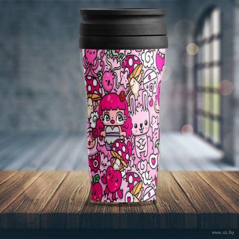 "Термостакан ""Розовый мир"" — фото, картинка"