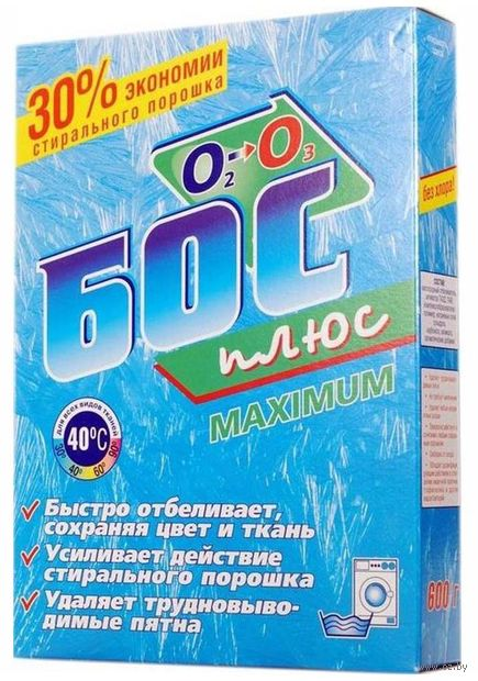 """Отбеливатель для белья Аист """"Бос-Плюс Maximum"""" сухой (600 г)"""
