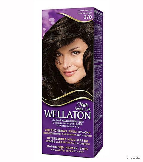 "Крем-краска для волос ""WELLATON"" (тон: 3/0, темный шатен)"