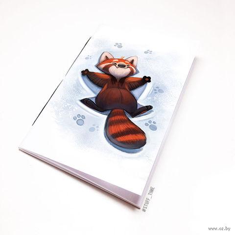 """Блокнот белый """"Красная панда"""" А5 (968)"""