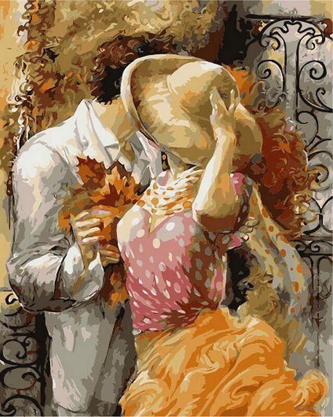 """Картина по номерам """"Осенний поцелуй"""" (400х500 мм) — фото, картинка"""
