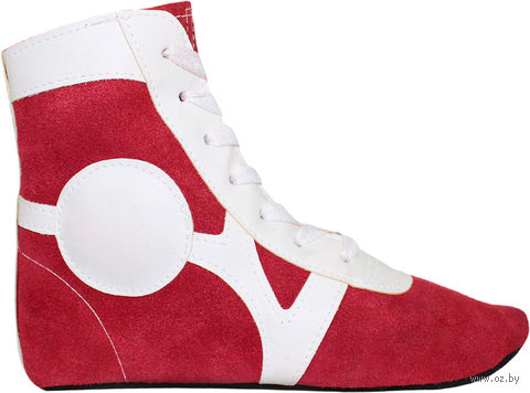 Обувь для самбо SM-0101 (р. 34; замша; красная) — фото, картинка