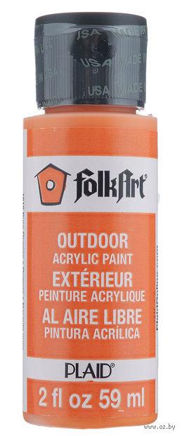 """Краска акриловая """"FolkArt. Outdoor"""" (оранжевая; 59 мл; арт. PLD-01615) — фото, картинка"""