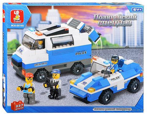 """Конструктор """"Автомобили для перевозки и сопровождения нарушителей"""" (337 деталей) — фото, картинка"""