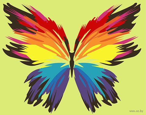 """Картина по номерам """"Бабочка-многоцветница (165х130 мм) — фото, картинка"""