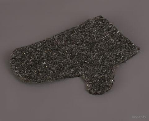 Рукавица банная (серый) — фото, картинка