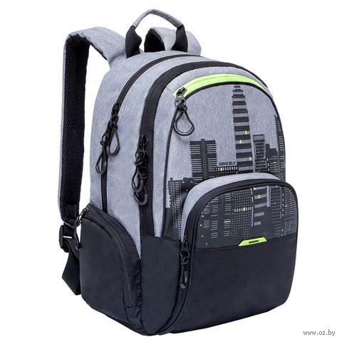"""Рюкзак """"City"""" (серый/зеленый) — фото, картинка"""