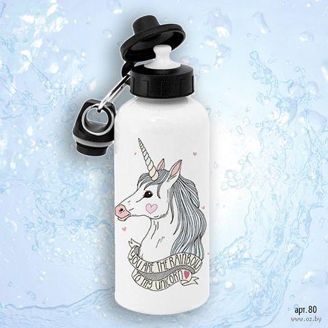 "Бутылка для воды ""Единорог"" (600 мл; арт. 080) — фото, картинка"