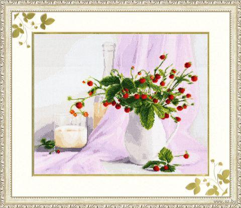 "Вышивка крестом ""Розовый натюрморт"" (315х385 мм) — фото, картинка"