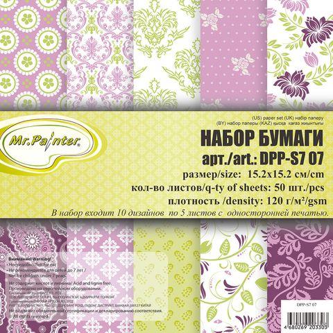 Набор бумаги для скрапбукинга (152х152 мм; арт. DPP-S7-07) — фото, картинка