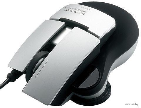Лазерная мышь Elecom Scope Node Laser (USB; серебристая)