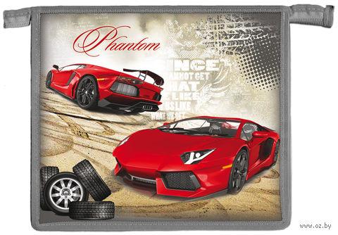 """Папка для тетрадей """"Красное авто и шины"""""""