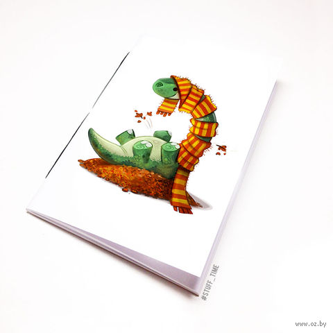 "Блокнот белый ""Динозаврик"" А6 (955)"